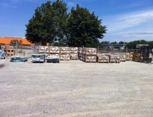 Stoccaggio materiale granito cinese  – deposito