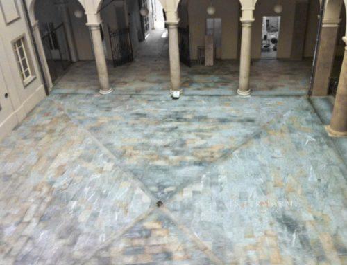 Ristrutturazione zona Alessandria – Bellisimo pavimento in luserna fiammata mista